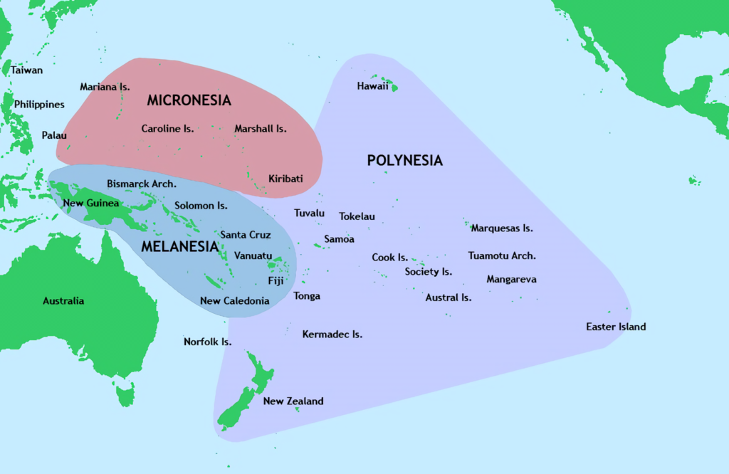 Polynesia map