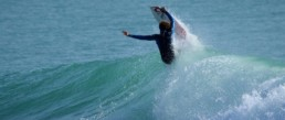 Surf videos section presenting Brahim making a nice surf move