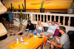 Pro Surf Morocco surf camp terrace hostel sunset agadir taghazout tamraght morocco