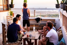 Pro Surf Morocco surf lessons surf camp terrace hostel view agadir taghazout tamraght morocco