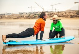 Pro Surf Morocco beach surf lessons surf camp beginner intermediate agadir taghazout tamraght morocco